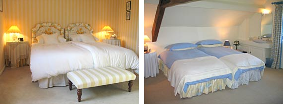 Double and Twin Bedrooms at The Mill House Bed and Breakfast